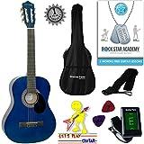 Set chitarra acustica 3/4dimensioni (36'pollici) classico corda in nylon, per bambini Three-Quarter size Blue