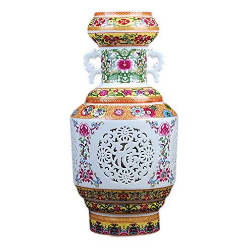 Vaso in ceramica doppio strato cava soggiorno decorazione della casa moderna artigianato antico antiquariato europeo
