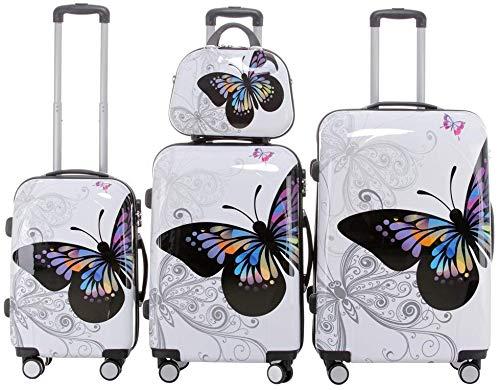 Set di valigie da viaggio 2060, set di trolley rigidi, disponibile in 12 modelli, set di 3 o 4 pezzi, dimensione unica xl/l/m/s, 2060, 2060