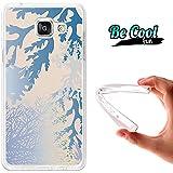 BeCool® Fun - Coque Etui Housse en GEL Flex Silicone TPU Samsung Galaxy A5 2016 , protège et s'adapte a la perfection a ton Smartphone et avec notre design exclusif.Coraux bleus