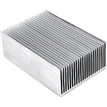 Aletas del Radiador de Aluminio Amplificador de Transistor para el Dispositivo Semiconductor de alta Potencia LED con 23pcs Fins 3.93