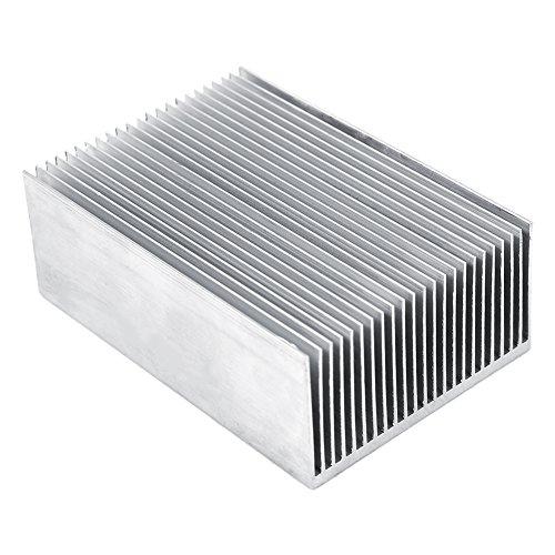 Dissipateur de Chaleur en Aluminium Haute Puissance 23pcs Ailettes 100x69x36mm pour Transistors à Semi-Conducteurs, PCB(Circuit Imprimé), LED