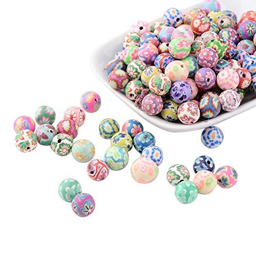 nbeads 200 Stück 10 mm gemischte Farbe Fimo Polymer Ton Perlen für buddhistische Gebetskette Handgelenk Mala Armband - Polymer-perlen