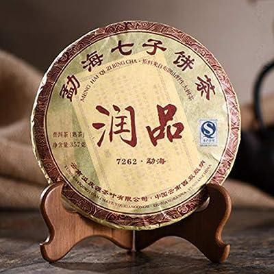Yunnan Run Pin 7262 sept fils Puer thé mûr Soins de santé Puerh thé thé chinois puer 357g (0.787LB) nourriture verte thé Pu'er thé noir thé Puer thé chinois shu cha nourriture saine thé Pu-erh vieux arbres thé Pu erh cuit thé rouge thé
