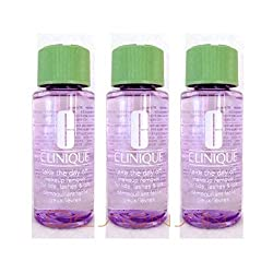 Clinique Take The Day Off Makeup Remover For Lids, Lashes & Lips 1.7 oz / 50 ml Each, (Lot of 3: 150 ml Total)