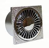 Kellerablauf verchromt 150 x 150 mm, Anschluss DN 50