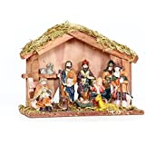 Unique Arts Beautiful Christmas Crib Nativity Set ,Multicolor