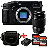 Bundle Fujifilm XPro2 Mirrorless CSC Camera with XF55-200mm f3.5-f4.8 OIS zoom lens + Fuji Case + 2x Sandisk 32GB Ultra + NP-W126 Spare Battery (16MP, APS-C X-Trans CMOS Sensor) 3 inch