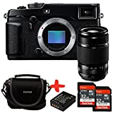 Bundle Fujifilm XPro2 Mirrorless CSC Camera with XF55-200mm f3.5-f4.8 OIS zoom lens + Fuji Case + 2x Sandisk 32GB Ultra + NP-W126 Spare Battery (24MP, APS-C X-Trans CMOS Sensor) 3 inch