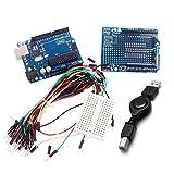 Arduino Kits UNO R3 + Board + Erweiterungskarte / Mini Brot Board + Jumper Kabel Set für Arduino - Blue + Black