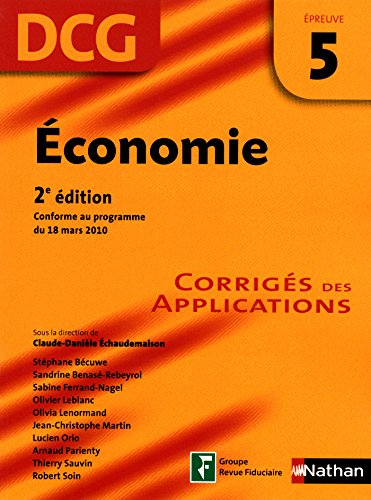 Economie - épreuve 5 - DCG corrigés