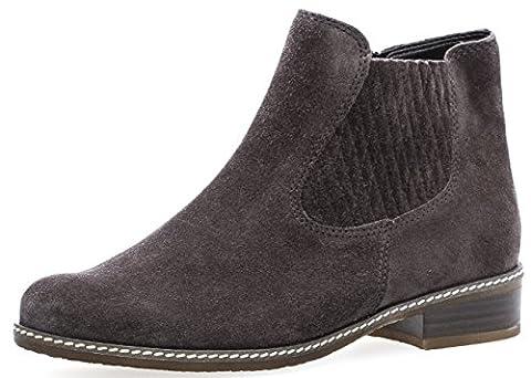 Gabor Damenschuhe 72.722.49 Damen Chelsea Boots, Stiefel, Stiefeletten, in COMFORT-Mehrweite, in Übergröße, mit Reißverschluss Grau (dark-grey (Micro)), EU