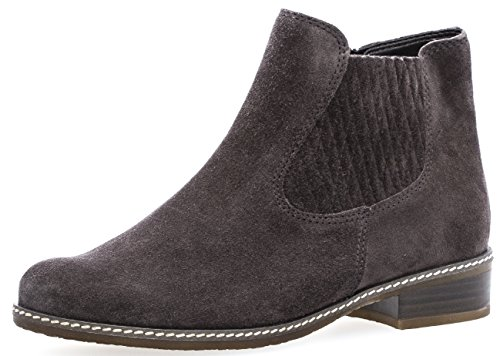 Gabor Damenschuhe 72.722.49 Damen Chelsea Boots, Stiefel, Stiefeletten, in Comfort-Mehrweite, in Übergröße, mit Reißverschluss Grau (Dark-Grey (Micro)), EU 6 -