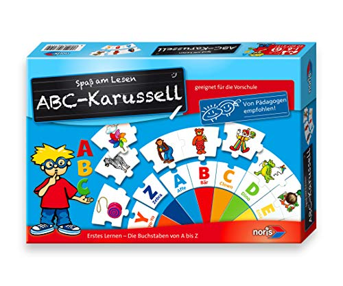 Noris Spiele 606076151 - ABC Karusell, Kinderspiel