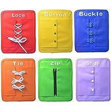 Montessori aprender a vestir las tablas de aprendizaje temprano habilidades básicas de la vida juguetes-