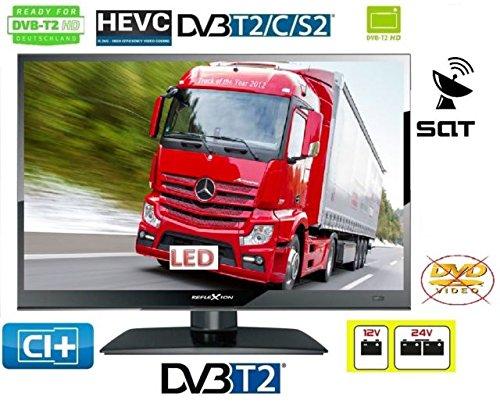 "REFLEXION LED TV 15,6""Zoll 39,6cm DVB-S2/C/T2 HD H.265 TV Triple Tuner 12-24V 230 Volt LKW Camping 12 / 24 Volt"