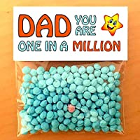 Daddy You're One in a Million Funny Fathers Day Gifts, Grandad Dad Novelty Sweets Cheeky Card Filler
