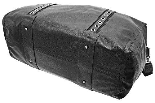 TASCHE Raumwunder die perfekte Citytasche Reisetasche Travelbag Reisegepäck Sporttasche Gepäcktasche (Coffee) Schwarz