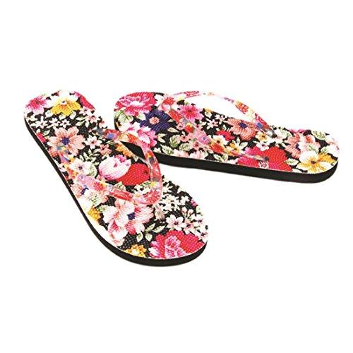 Amlaiworld Pantofole Donna,Scarpe fiori sandalo Home Toepost infradito pantofole spiaggia A