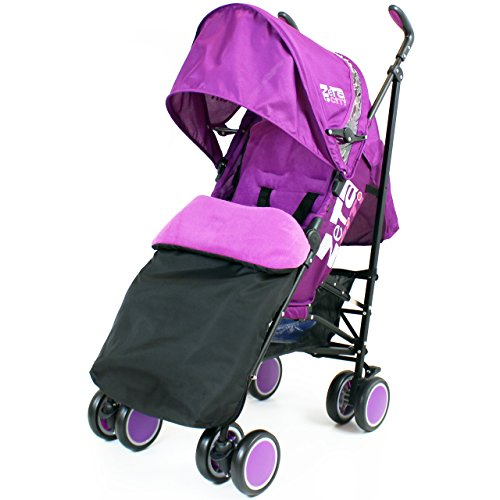 Zeta Citi Stroller Buggy Pushchair - Plum (Complete With Footmuff + Raincover)
