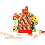 Tooky Toy - Jenga en bois - Coq, bûches et ferme