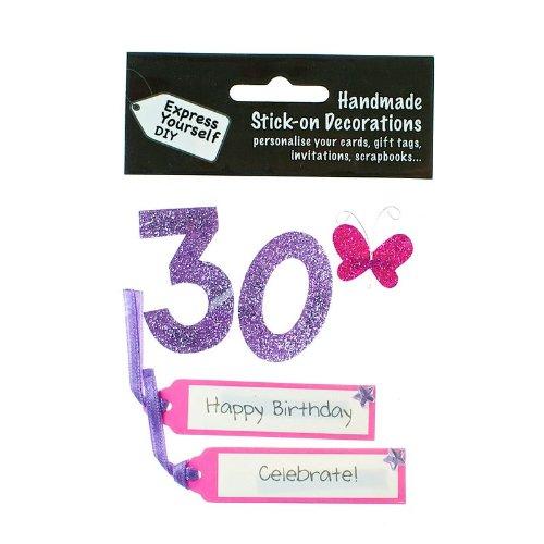 r Zahl 30 pink Glitter (Glitter-zahlen)