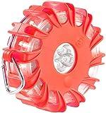 VisorTech Unfall Kfz Blinklicht: Notfall-Warnblinkleuchte, SOS-Signal, 10 Leuchtprogr, rot (Unfall Signalleuchte, wasserdicht)