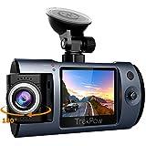 ABOX Dash Cam Telecamera da Auto Full HD 1080P Car DVR Grandangolari 170° Lente Ruotabile 180° Videoregistratore per Guida, Sensore Sony, G-Sensor, Visione Notturna, Registrazione in Loop da TrekPow