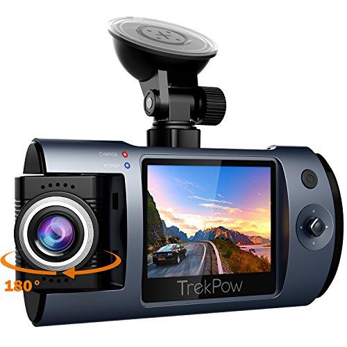 ABOX Cámara de Coche con 180° Rotatorio Lente, TrekPow HD 1080p T1 Coche DVR, Dash CAM con Sony Sensor, 170° Gran Ángulo,Grabación en Bucle, Visión Nocturna (T1DashCam)