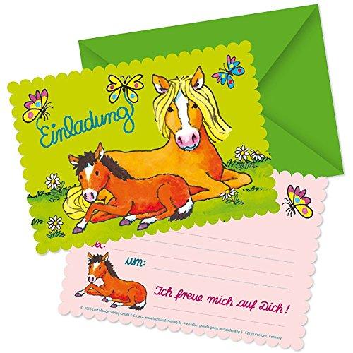 Lutz Mauder 26017 Stanzkarte Einladungs-Set Mein Ponyhof