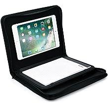 Funda-carpeta tablet de Apple iPad Mini 4 3 2 1, COOPER BIZMATE Portafolios protector cremallera viaje, libreta y portalápices, 8,5 x 5,5 (Negro)