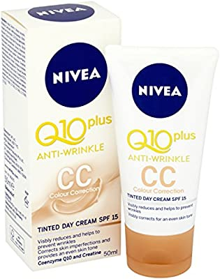 Nivea Q10 Plus SPF15 Anti-Wrinkle CC Tinted Day Face Cream, 50 ml, Pack of 3 by Beiersdorf UK Ltd
