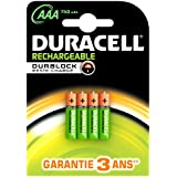 Duracell - Pile Rechargeable - AAA x 4 - 750 mah (LR03)