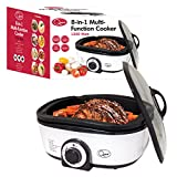 Quest 35560 8-in-1 Multi-Function Cooker with Accessories, 5 Litre, 1300 Watt, White