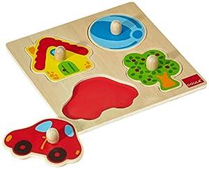 Goula - Puzzle de Colores, 4 Piezas de Madera (Diset 53015)