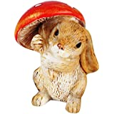 Wonderland Miniature 1.4 Inches Fairy Garden Bunny With Mushroom For Planter Decoration, Bonsai, Terrarium, Garden Decor, Mini, Miniatures, Tray Garden, Doll House, Kids Room Decor, Gift, Home Decoration Item