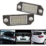 Sedeta 2Pcs Blanco 24 LED Car Number Matrícula Luz de la lámpara para el Ford Focus