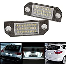 Sedeta 2Pcs Blanco 24 LED Car Number Matrícula Luz de la lámpara para el Ford Focus