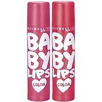 Maybelline New York Baby Lips Cherry Crush & Baby Lips Berry Crush, Red, 31.2 g (Pack of 2)