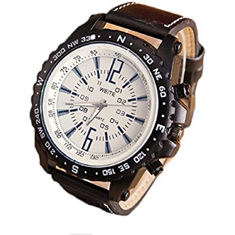 Tongshi Negocios reloj de cuarzo ocasional de los hombres (Negro)