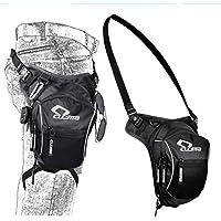 YUJOY CB-1605 Motorrad Racing Beintasche Outdoor Bag Bike Bag Radfahren Hüfte Tasche Taktische Tasche Reisetasche Werkzeugtasche, Schwarz, Ultra-Große Kapazität Extensional Wasserdicht