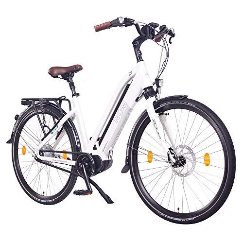 """NCM Milano Max Bicicletta elettrica da Trekking,28\"""" Bicicletta da Città, 250W Motore Centrale, Batteria 36V 16Ah 576Wh (Milano Max)"""