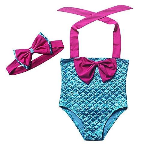 Lonchee jolie fille sirène maillot de bain maillot de bain Bikini costume de bikini maillot pour enfants natation natation cosplay