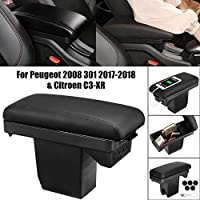 Naliovker Arm Rest for Sx4 2007-2013 Center Centre Console Storage Box Armrest Rotatable 2008 2009 2010 2011 2012