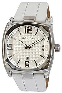 Police Edge - Reloj analógico de caballero de cuarzo con correa de piel - sumergible a 100 metros de POLICE