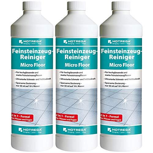 3 x HOTREGA Feinsteinzeug-Reiniger