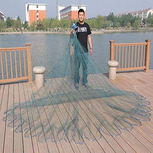 BYDRDYW Finefish fangen Fischnetz Cast Netze kleine Masche leicht zu werfen Fischernetz Outdoor-Wasser Fischernetz Falten Falle Kiemennetz