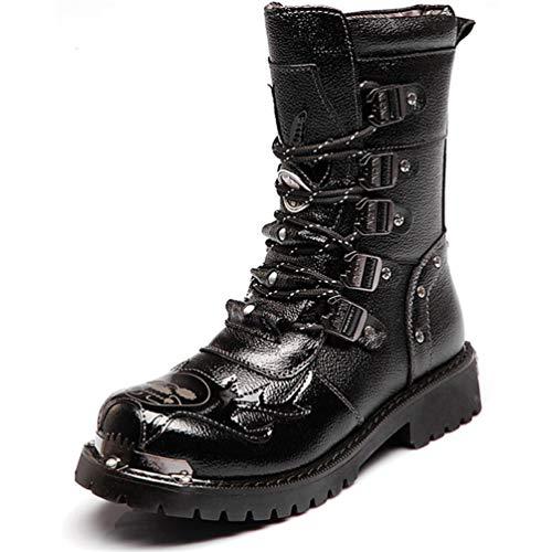 LXLLY Botas para Hombre Martin Botas de Cuero Genuino Ejército...