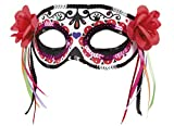 Faschingsfete Halloween Kostüm Augen Maske Pailletten Besetzt mit Rosen Day of Dead Erwachsenen Maske, Mehrfarbig