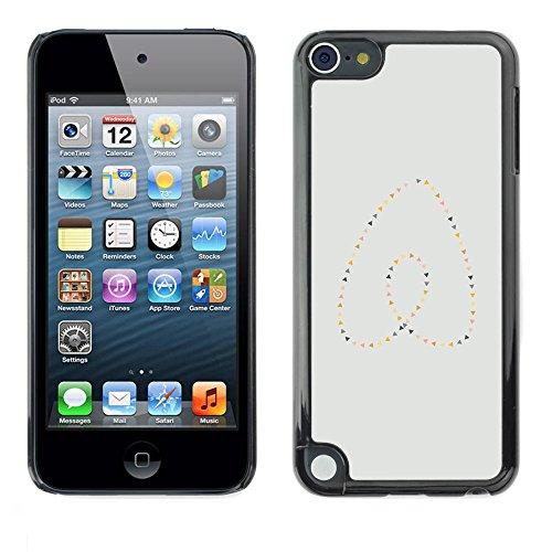 GooooStore/Dura Custodia Rigida della copertura della cassa - Heart Pearls Gold Blue Minimalist - Apple iPod Touch 5 - Blue Pearl Gt